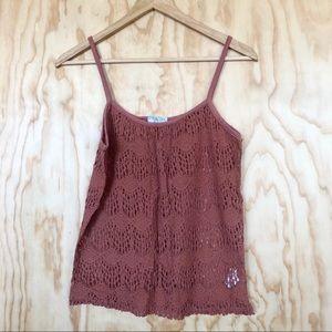 Cotton On • Burnt Orange Lace Tank